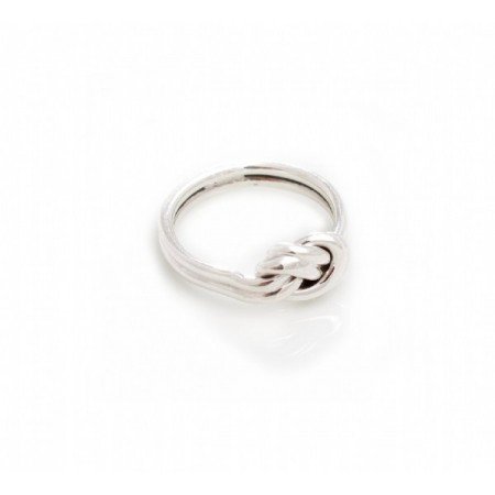 Sterling Silver Double Stranded Knot Ring