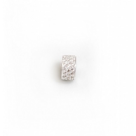 Exclusive Sterling Silver & CZ Starlight Roller Charm Bead