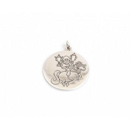 Exclusive Sterling Silver Thelwell Pony, Well Done Pendant With Snake Chain - Norman Thelwell Collection