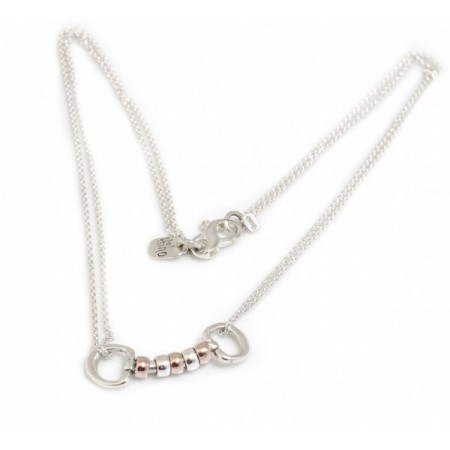 Exclusive Sterling Silver & 18ct Rose Gold Vermeil Cherry Roller Snaffle Necklace - Equestrian Jewellery
