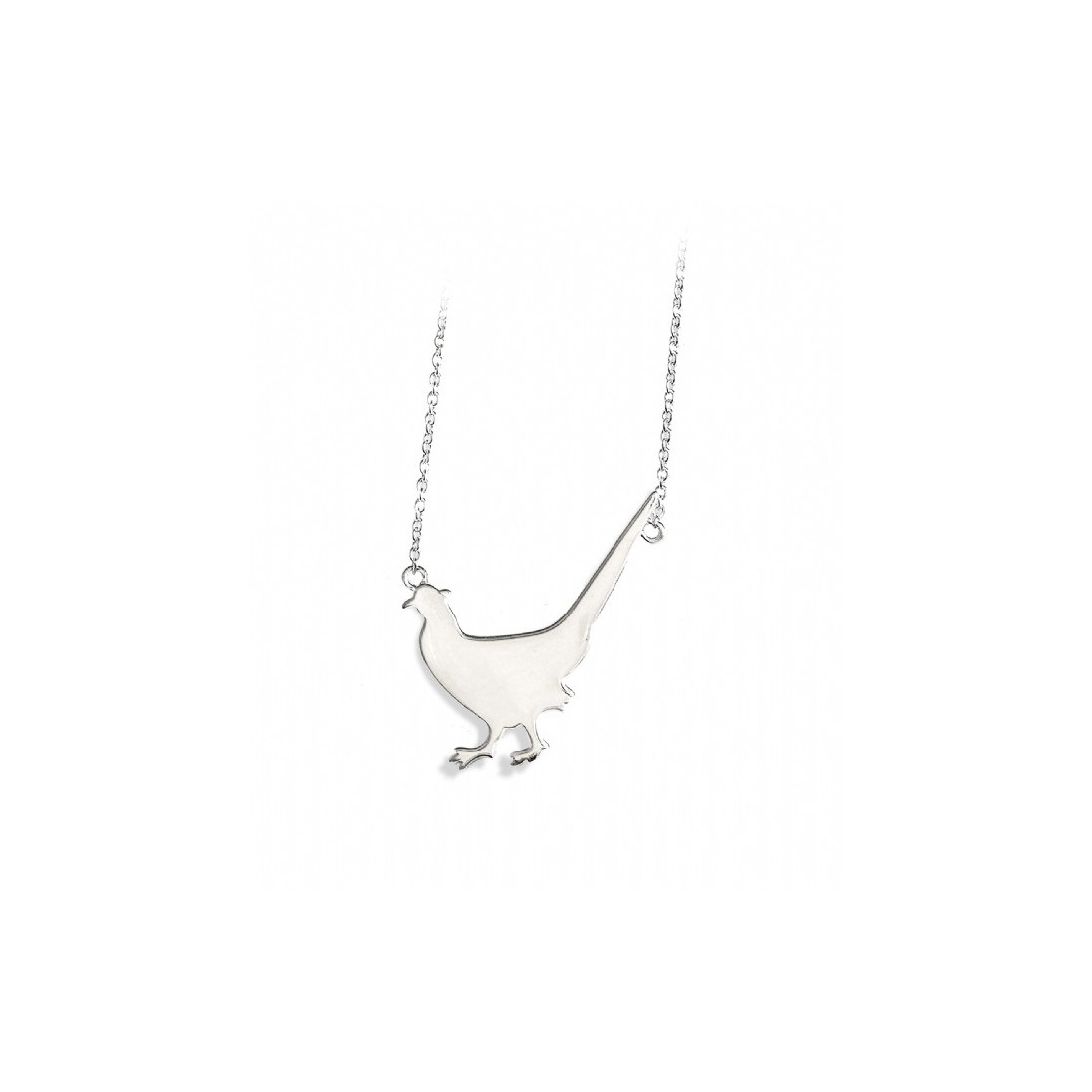 Exclusive Shotgun & Chelsea Bun Club Sterling Silver Pheasant Necklace - Shooting Jewellery