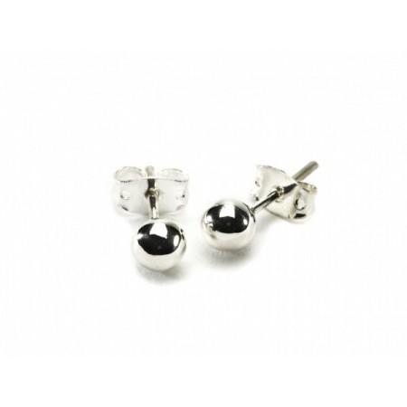6mm Sterling Silver Ball Stud Earrings