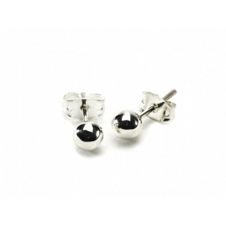 Medium Sterling Silver Ball stud