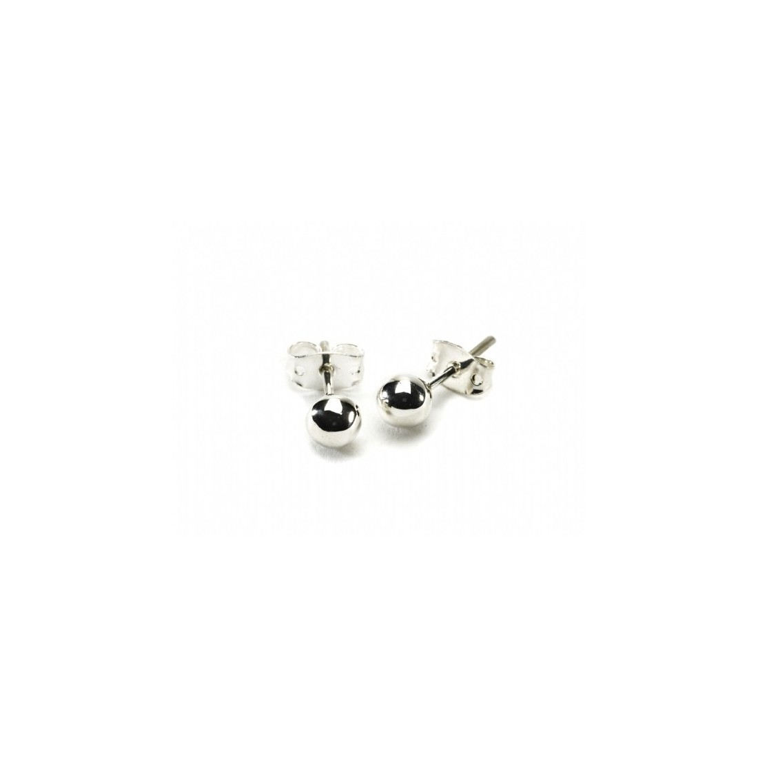 6mm Sterling Silver Ball Stud Earrings