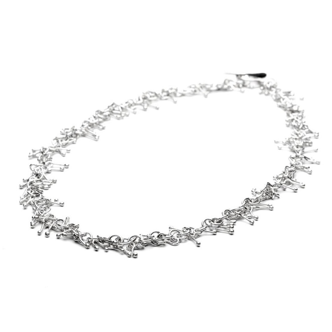 Hiho Sterling Silver Matchstick Necklace