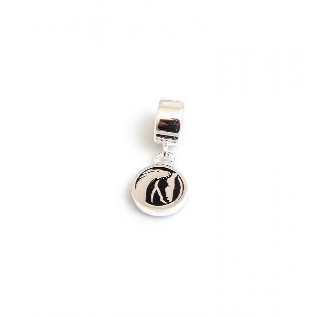 Exclusive Sterling Silver & CZ World Horse Welfare Roller Charm