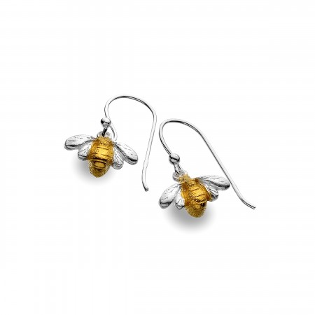 Sterling Silver & 18ct Gold Vermeil Bumblebee Earrings