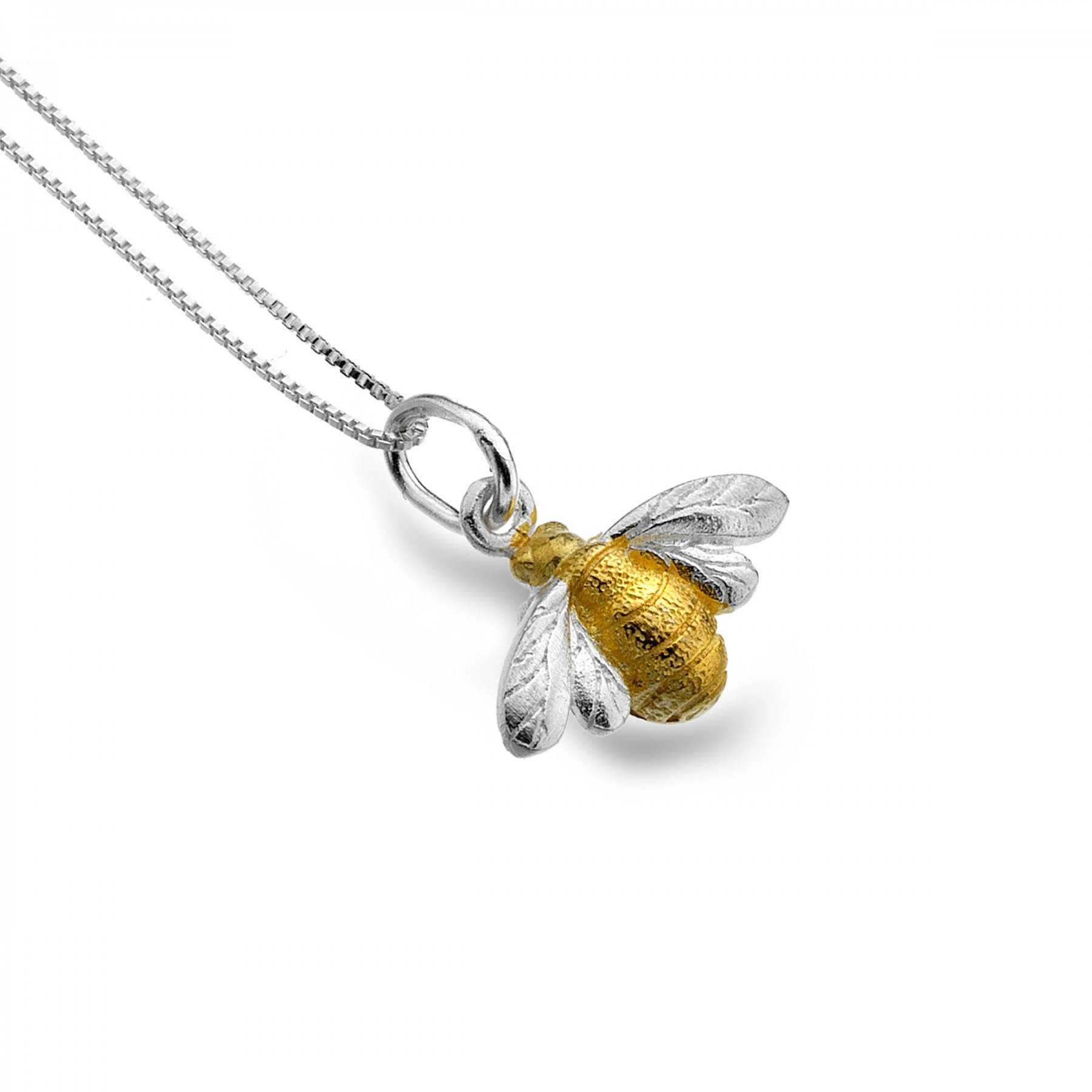 necklace bee gold solid