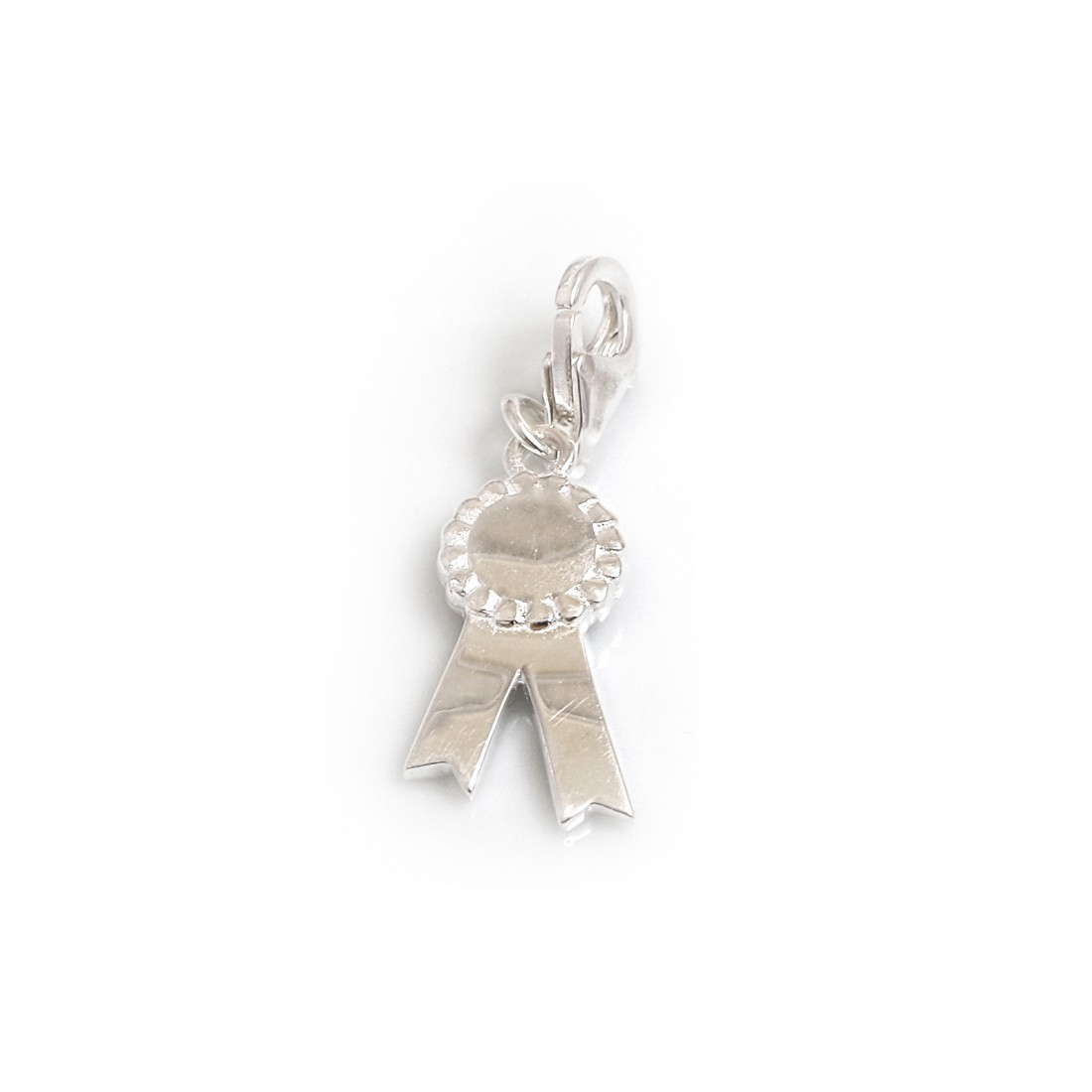 Exclusive Sterling Silver Thelwell Rosette Charm - Normal Thelwell Collection