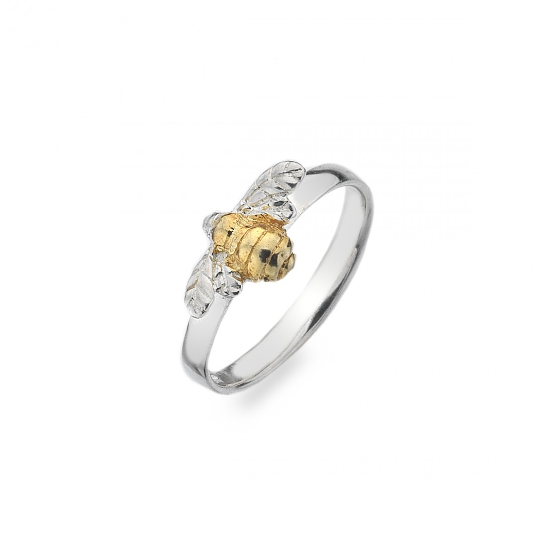 Sterling Silver & 18ct Gold Vermeil Bumblebee Ring