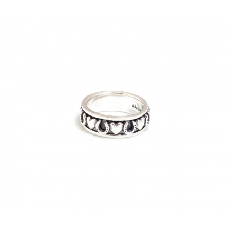 Exclusive Sterling Silver Hearts & Horseshoes Spinner Ring