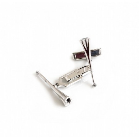 Sterling Silver Hunting Horn Cufflinks - Equestrian Jewellery
