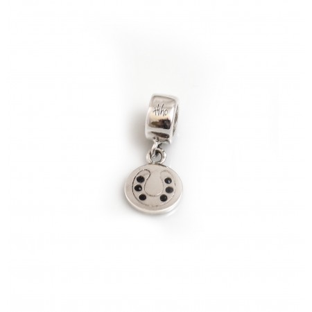 Exclusive Sterling Silver & CZ Engravable Roller Charm
