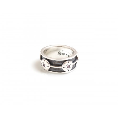 Exclusive Sterling Silver CZ Shotgun Cartridge Spinner Ring