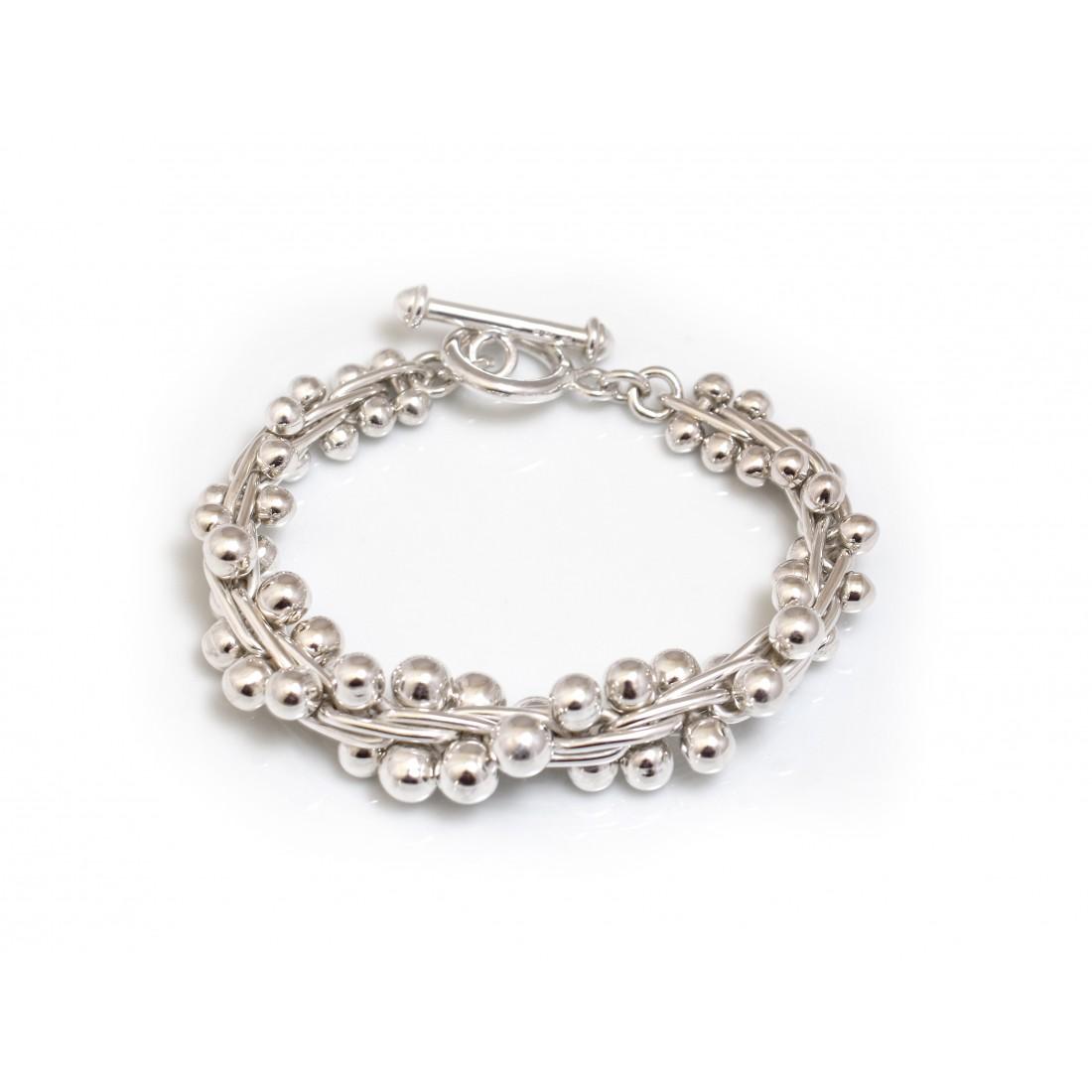 Sterling Silver Graduated Bobbly Bracelet
