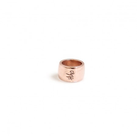 Solid 9ct Rose Gold Roller bead