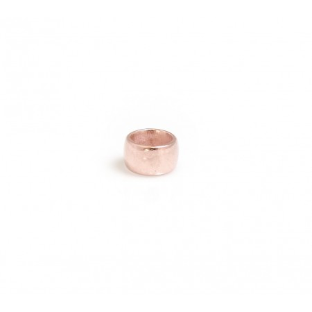 Sterling Silver & 18ct Rose Gold Vermeil Roller Bead