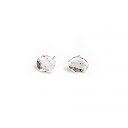 Sterling Silver Stepping Stone Studs
