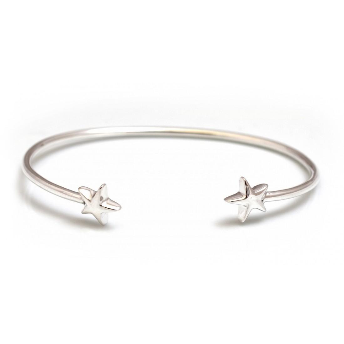 Sterling Silver Star Cuff Bracelet
