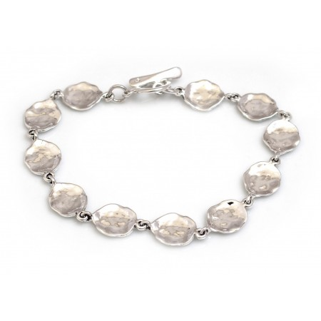 Sterling Silver Stepping Stones Bracelet