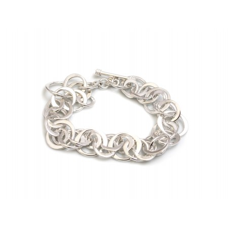 Classic Sterling Silver Multi Circles Bracelet