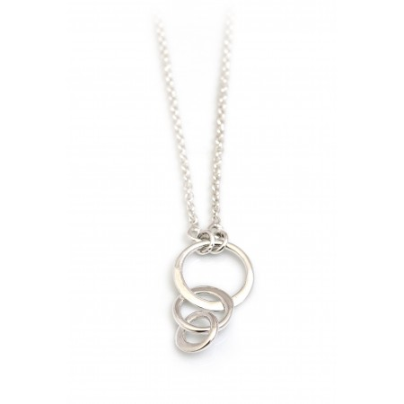 Sterling Silver Multi Circles Necklace