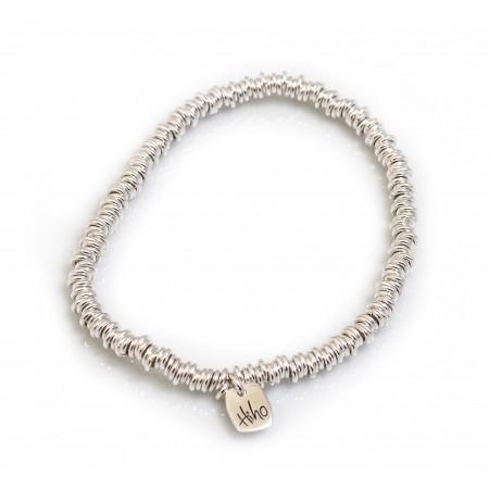 Sterling Silver Elasticated Multi-link Bracelet