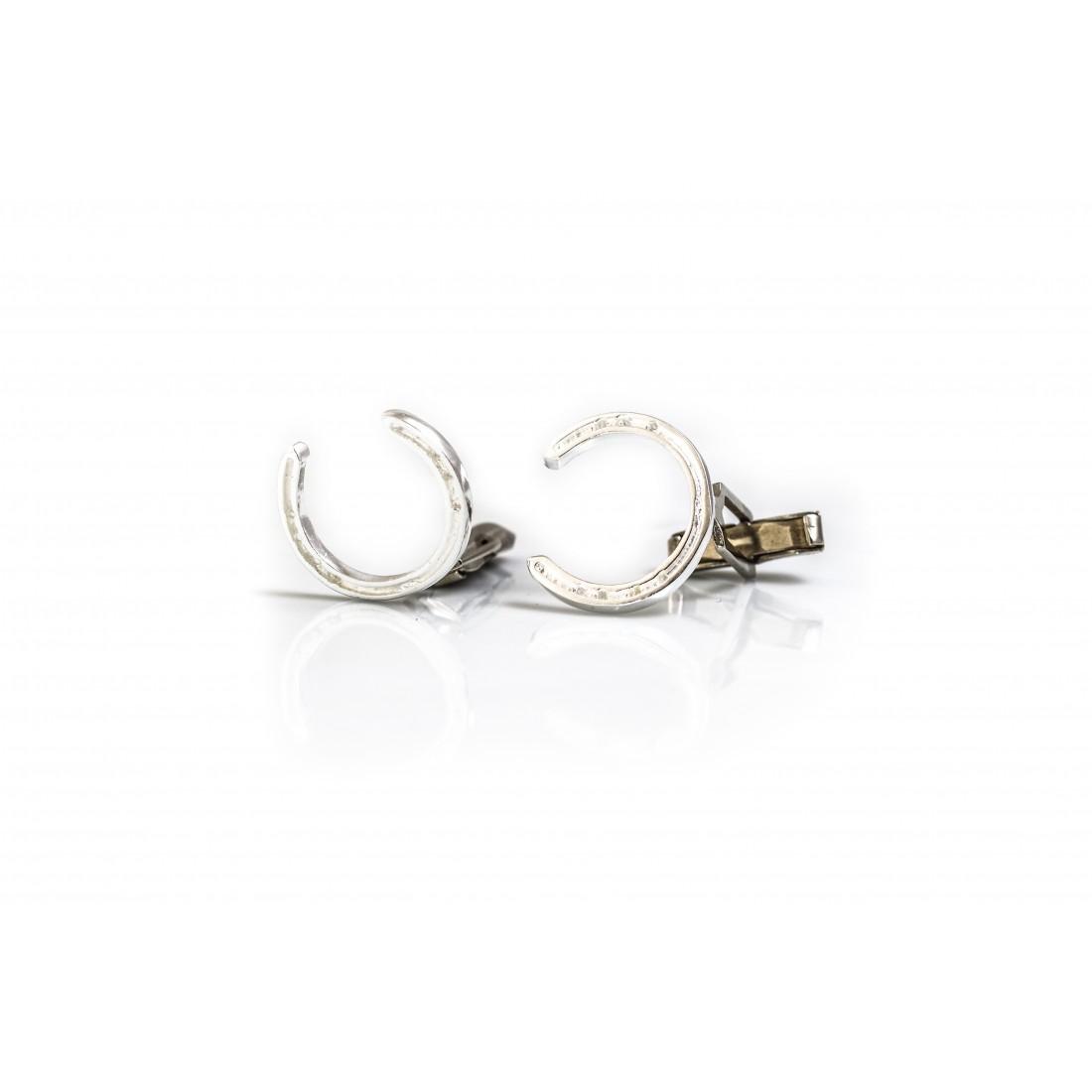 Sterling Silver Horseshoe Cufflinks