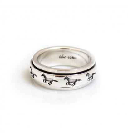 New Exclusive Galloping Horse Ring from Hiho Silver